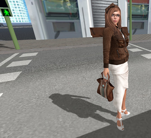 In the crosswalk