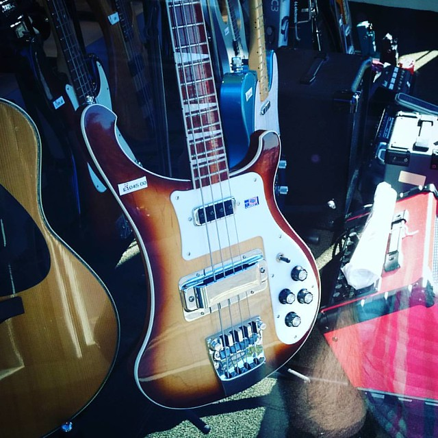 Photo:I will be walking past this shop window probably once a day till pay day to see if my dream #rickenbacker #Bass #Guitar has been sold yet. By nigeljohnwade