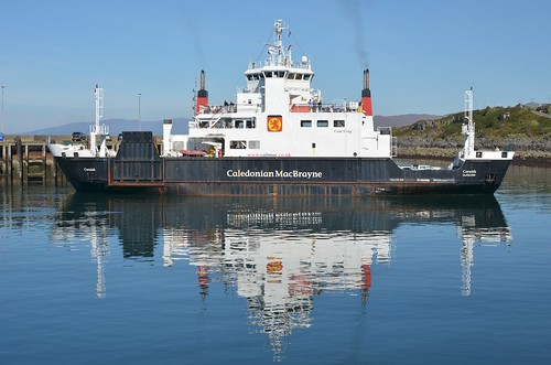 A ferry departing Mallaig
