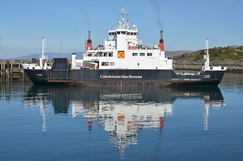 A ferry departing Mallaig