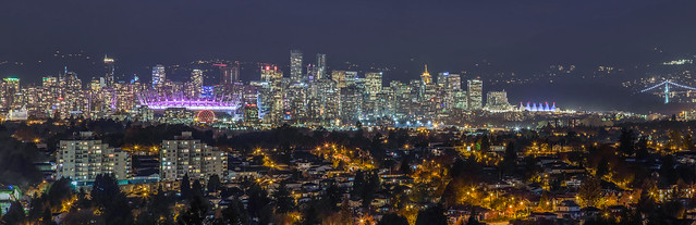 View of Downtown Vancouver, Burnaby & Surrey