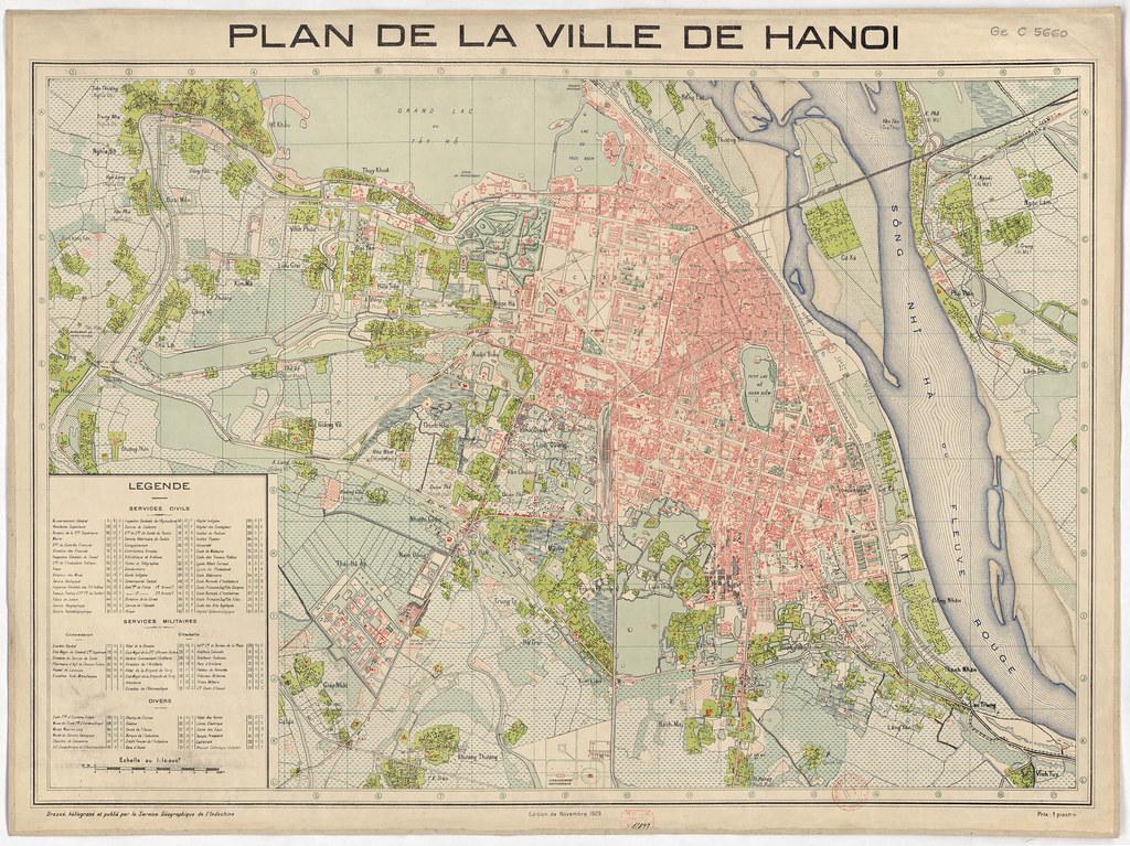 > Carte de Hanoi en 1929 - Image de Manhhai