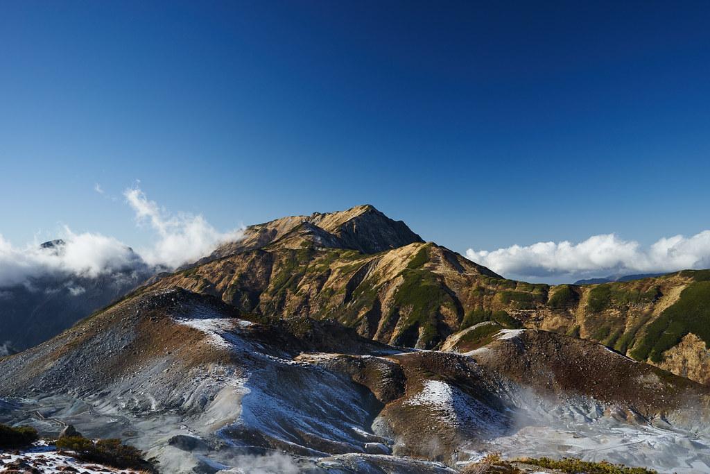 地獄谷と大日連山