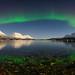Ullsfjord night with aurora by John A.Hemmingsen