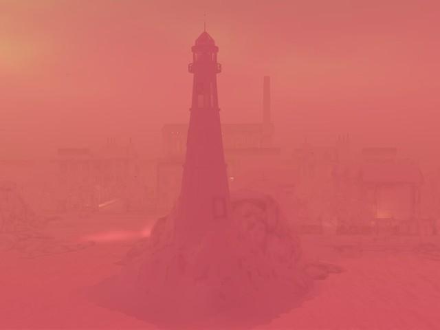 St Pete City  -  Shrouded Light House In the Mist