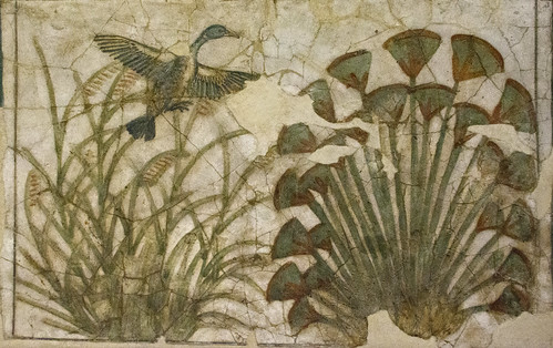 floor painted egypt palace cairo 18thdynasty akhenaten egyptianmuseum lotusplants akhenaton amarna amenophisiv amenhotepiv tellelamarna