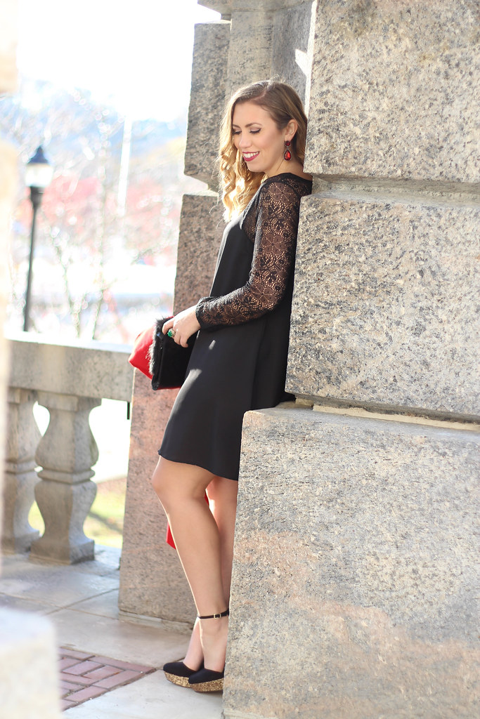 Holiday Glam Outfit   Glitter Platform Shoes