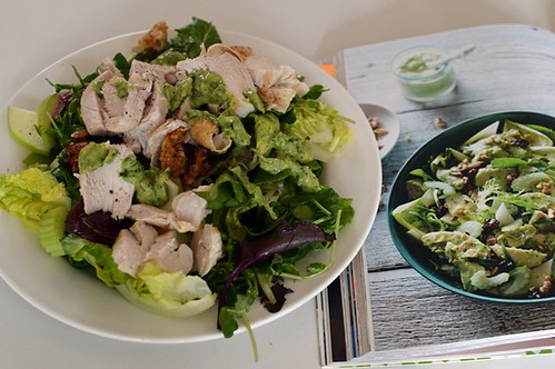 Chicken salad with avocado ranch dressing