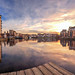 A winters Sunset at the Shore, Leith (PANO)