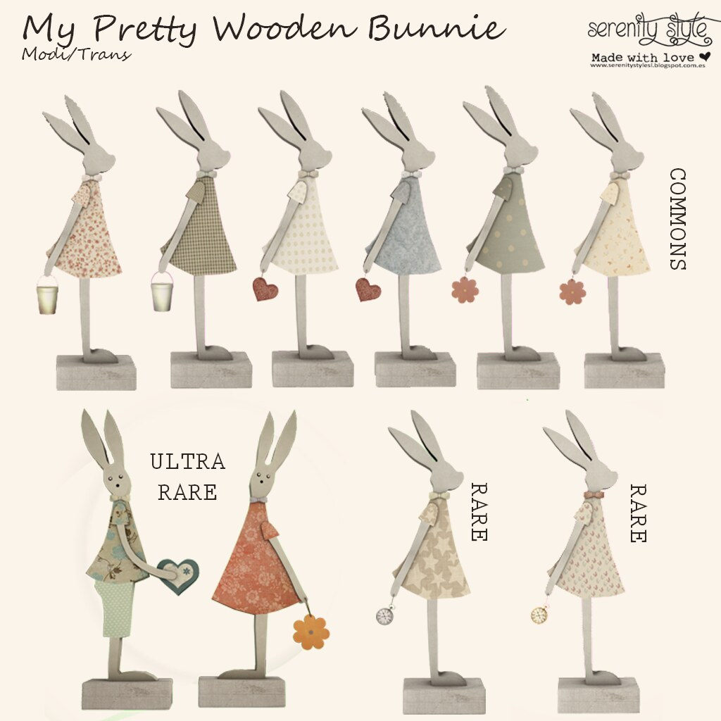 Serenity Style- My Pretty Wooden Bunnie - SecondLifeHub.com