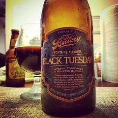Cracked a 2014 @thebruery #BlackTuesday as a birthday beer with  my old school true friends.  #CraftBeer