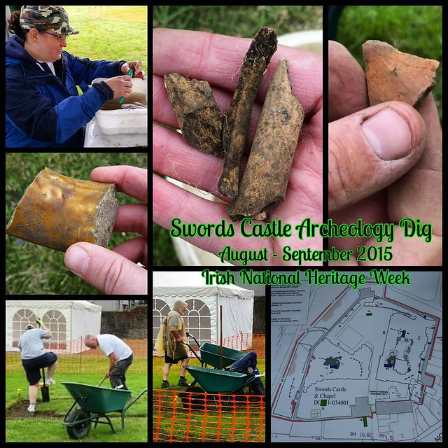 Irish National Heritage Week - volunteering to dig Swords Castle Archeology. Despite the hard work and rain, we had lots of fun and interesting finds so far. Volunteers over 18 needed through September 11. #swordscastle #archaeological #archaeology #excav