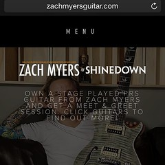 Own a stage played guitar from @ZMyersOfficial with a Meet & Greet + more! One per city! Check it out here: http://ift.tt/1JBkDpv #ZachMyers #Shinedown
