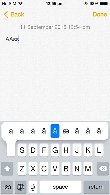 How to type special character on iPhone and other iOs devices