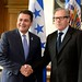 Secretary General Delivers Initiative to Combat Corruption and Impunity to President of Honduras