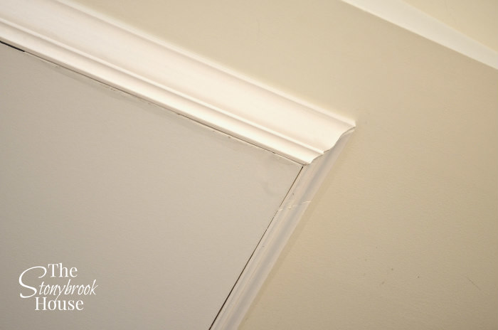Crown molding gaps than need to be filled