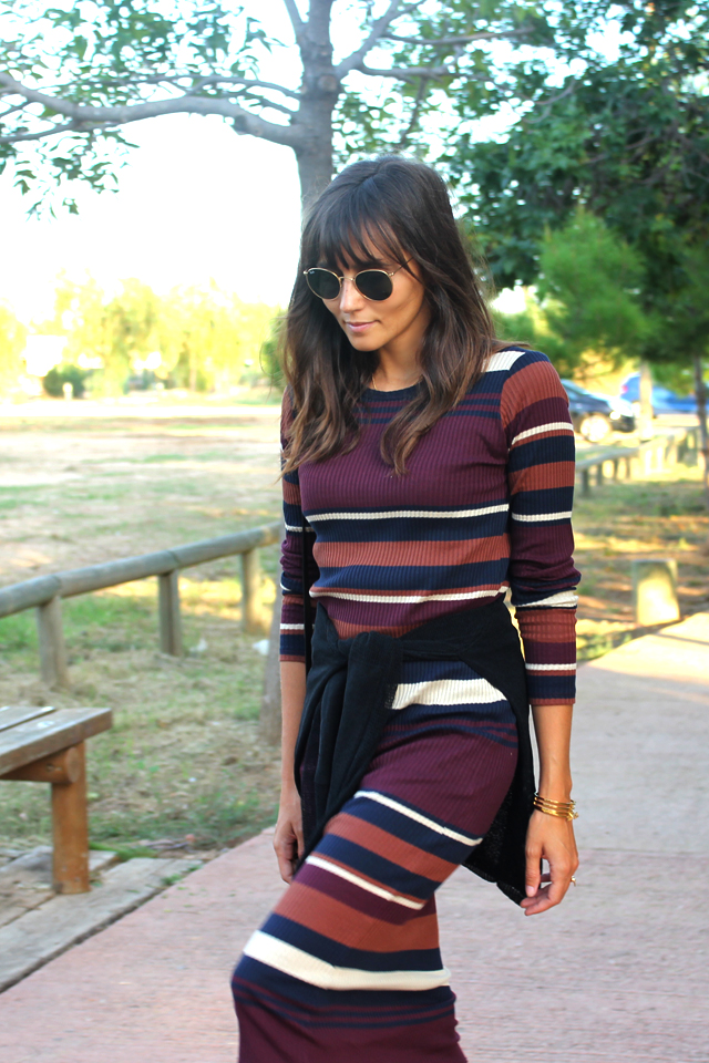 stripes dress coohuco 5