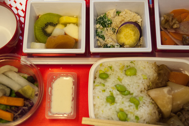 In-flight meal to Paris from Tokyo