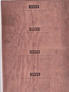 Trenton Banking Company banknote printing plate