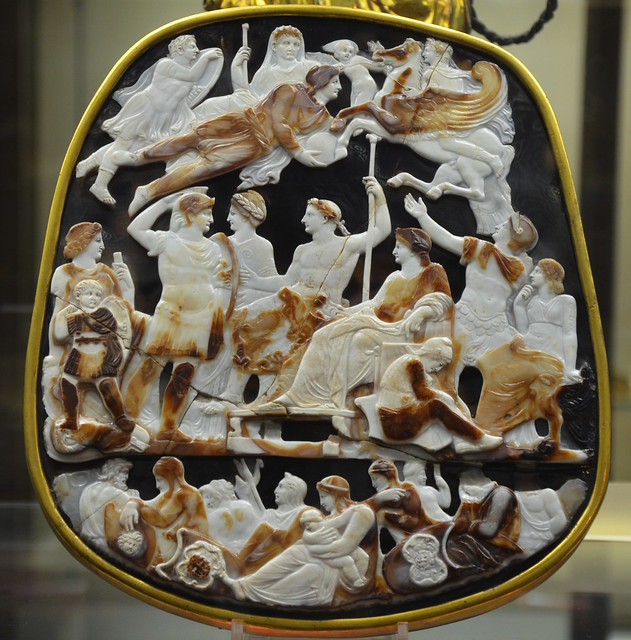 The Great Cameo of France, a five-layered sardonyx cameo divided into three level and depicting members of the Julio-Claudian dynasty, circa 23 AD, Cabinet des Médailles, Paris