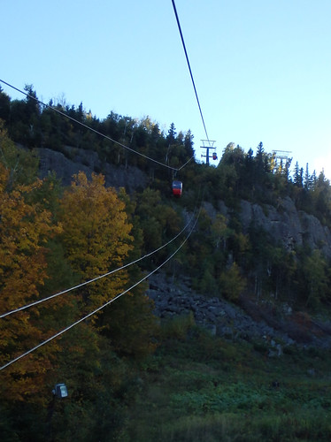 tram near the top of Lutsen Mountains