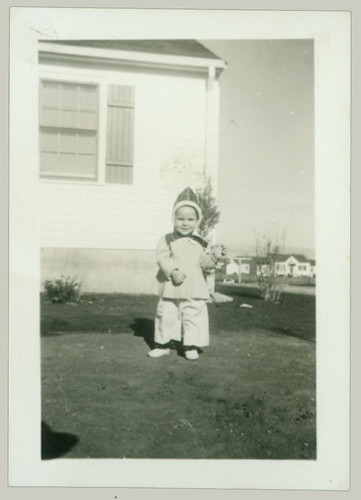 child with hoodie