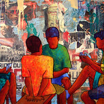 Anthony Ortega; Dreamers; 2013; 38x54 - Art of the State 2016 at the Arvada Center for the Arts and Humanities