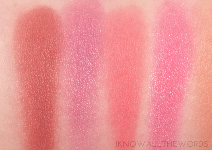 Sephora Collection Ombre Obsession Face Palette swatches (4)