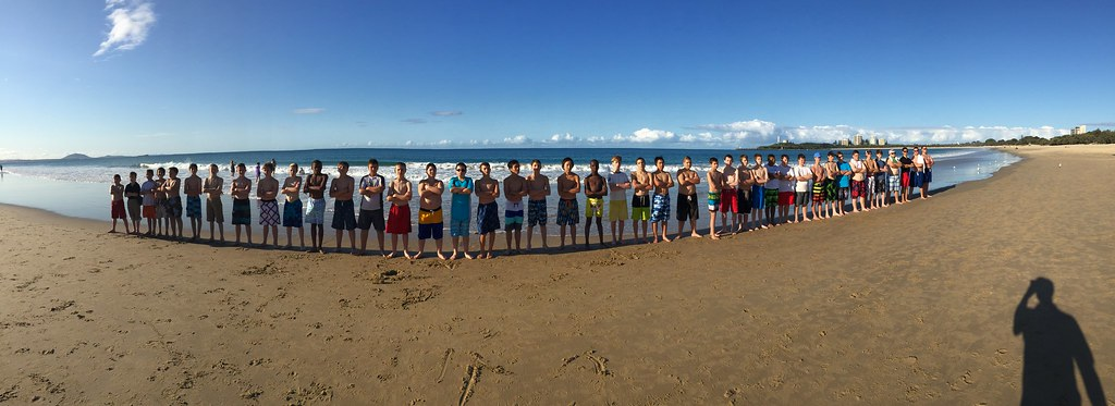 Cincinnati Boychoir at Manly Beach in Sydney