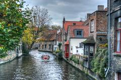 View from Mariastraat Brugge Belgium