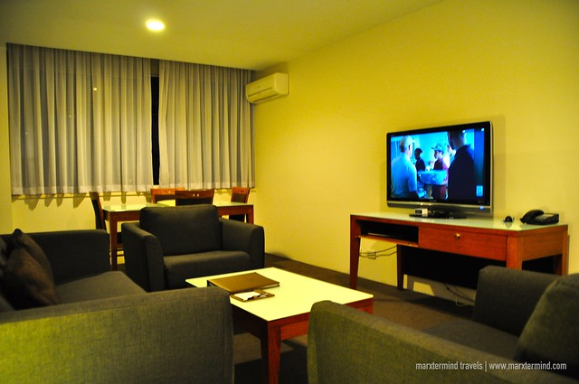 Separate Living Room at Park Regis Griffin Suites Melbourne