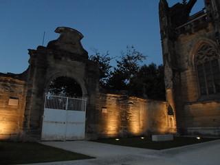 Eglise Saint-Antoine-l'Abbaye by night F-38160