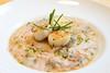Risotto de marisco con carpaccio de gamba y vieiras #restauranteclaxon