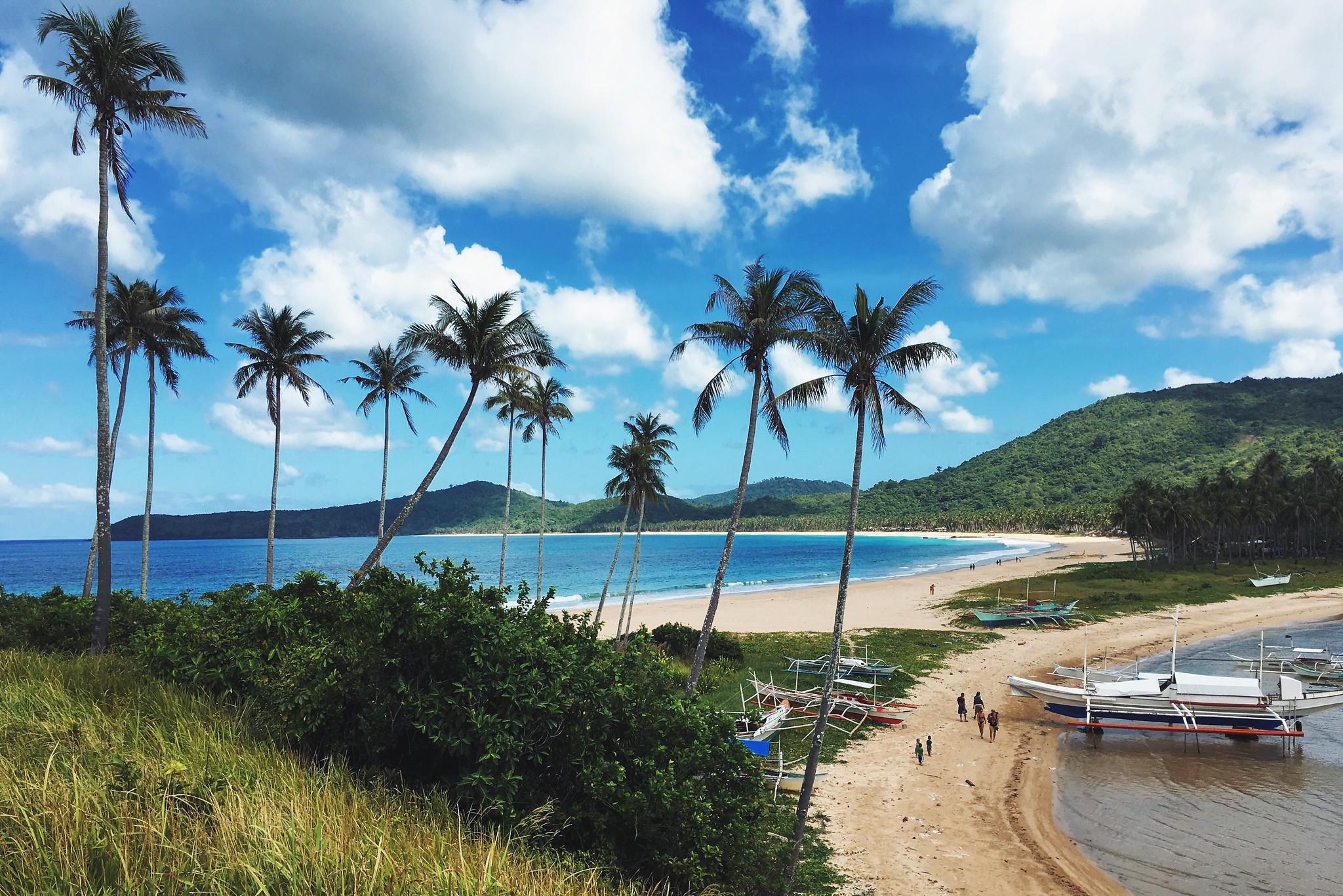 The beautiful Nacpan Beach.