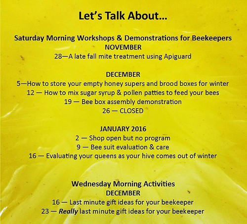 Free Workshops at the Bee Ranch