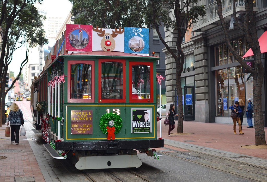 Christmas Cable Car