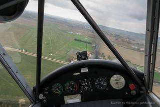 Piper Cub - Sideslip landing