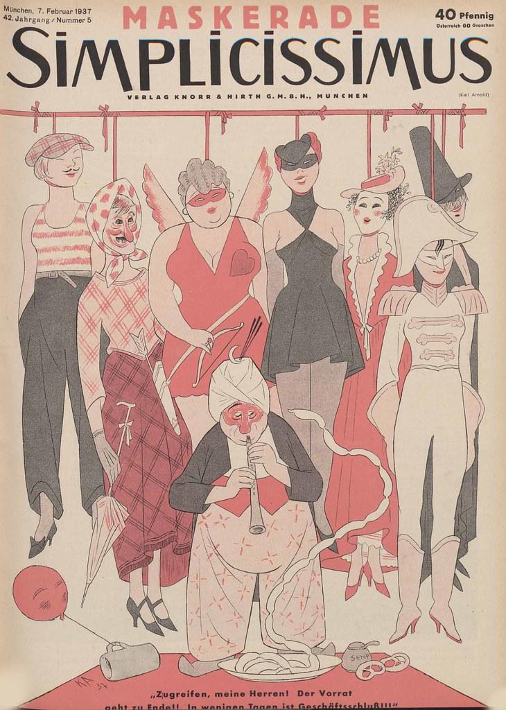 Karl Arnold - Maskerade, 1937