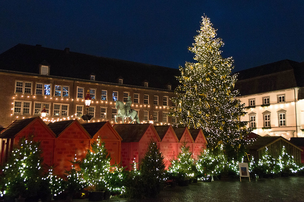Christmas market in Düsseldorf, Germany Credit Supercarwaar