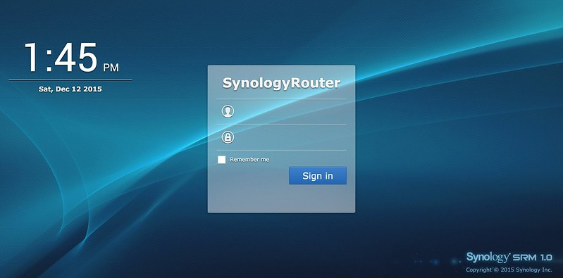 Synology Router RT1900ac - Login