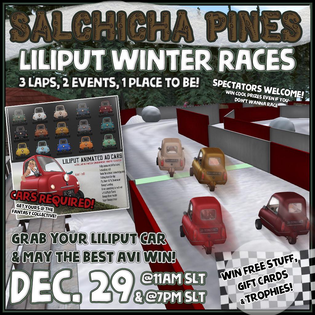 Salchicha Pines Racetrack - Liliput Winter Races! - SecondLifeHub.com