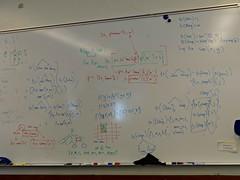 Semantics on classroom board, UC-Santa Cruz