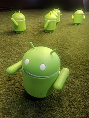 Androids marching