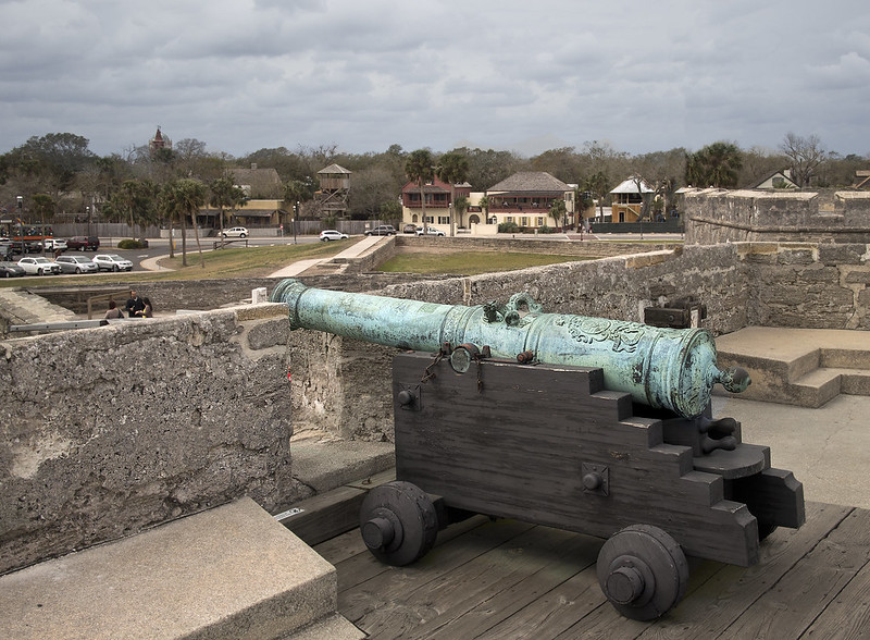 St. Augustine Florida  Castillo de San Marco cannon fort  National Park Service