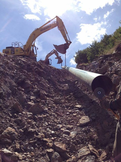 Mount Snow pipe install