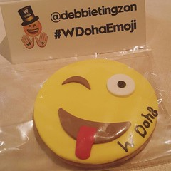 And to top it all off! #EMOJI cookies for everyone! aWesome-ness! @wdoha you guys are The BEST!