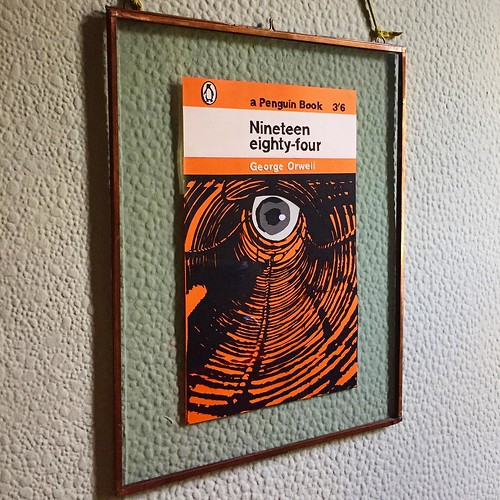 Cut Paper Cover of Nineteen eighty-four