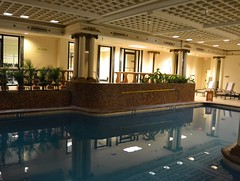 Swimming pool at the Peabody hotel Memphis TN