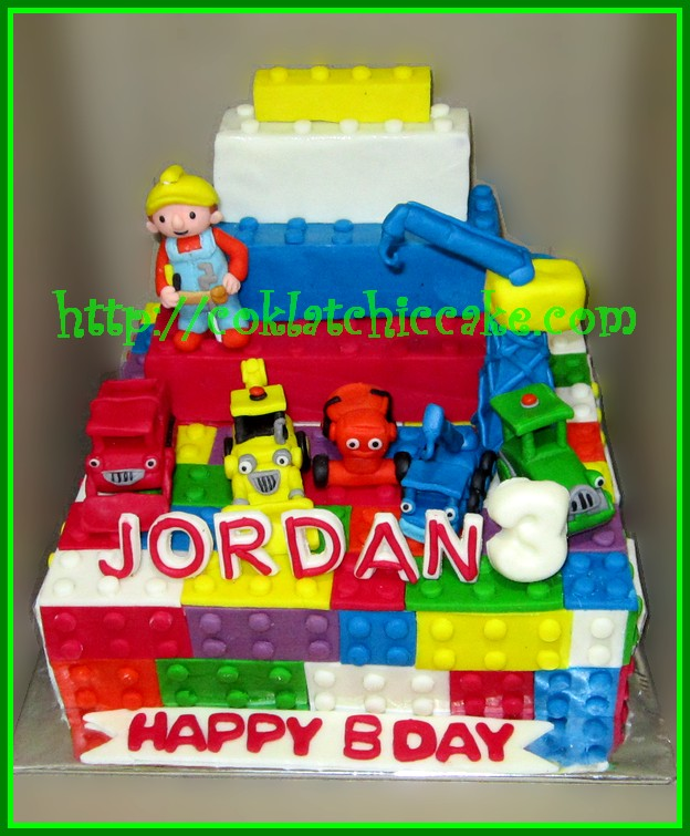 Cake bob the builder dan lego