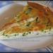 Quiche de calabacín y langostinos / Prawns and zucchini quiche